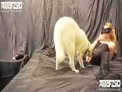 La criada se follo al perro