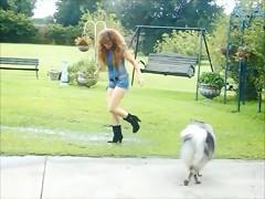 Mi perra disfruta de una buena polla