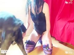 Perro negro follada asegurada