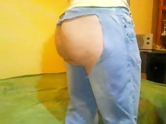 cuming in her ass then fuck to clean hes cock