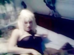 Busty With Her Dog
