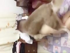 chinese girl dog fuck